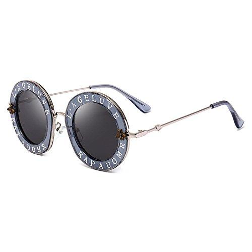 Unisex Marca Moda Sol Letras C Redondas de D la Hombres Gafas Mujer Nuevas UV400 Caliente Abejas Gafas Gafas de Decoración Burenqi Las de Y5CwIqUI