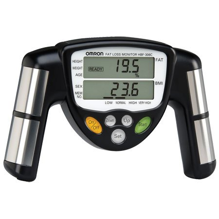 Omron HBF-306C FITNESS DIAGNOSTICS Handheld Body Fat - Hbf Omron Fat 306c