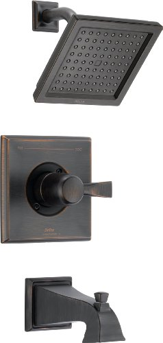 Delta Faucet Dryden 14 Series Single-Function Tub and Shower Trim Kit with Single-Spray Touch-Clean Shower Head, Venetian Bronze T14451-RB (Valve Not Included) ()