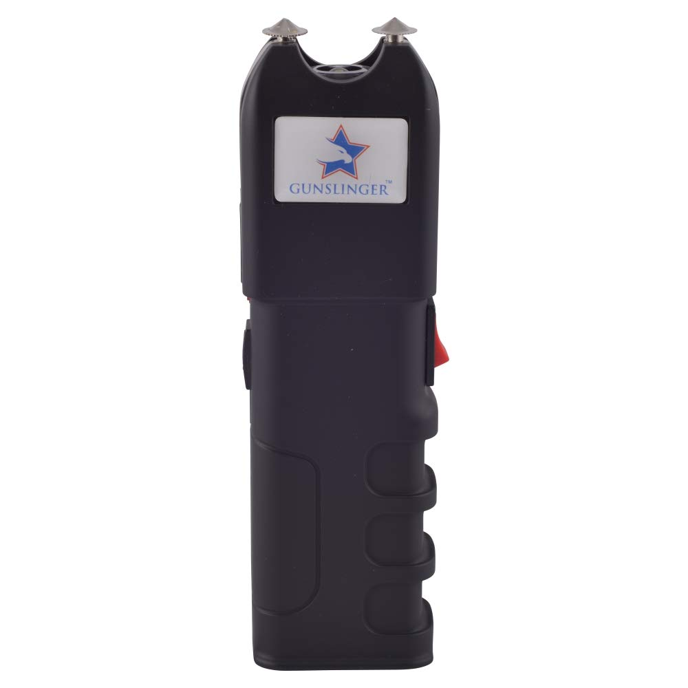 Gunslinger High Voltage-15 Billion Heavy Duty Stun Gun with LED Flashlight-Black