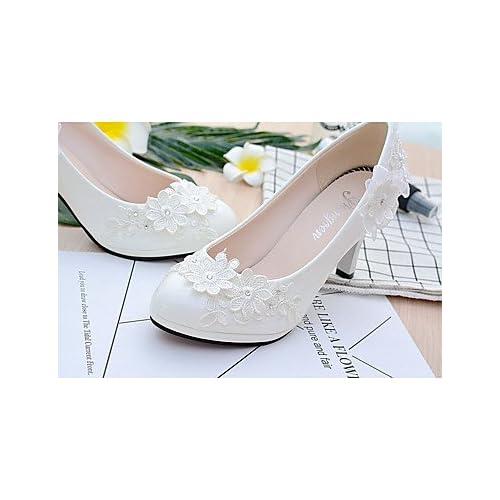 De bajo costo SHUAI shoes mejor regalo para mujer y madre Mujer Zapatos  Encaje Semicuero Primavera Otoño ded565dccc5