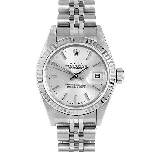 (Rolex 79174 Ladies 26mm Datejust - Silver Stick - Fluted Bezel - Jubilee Band (Certified Pre-Owned))