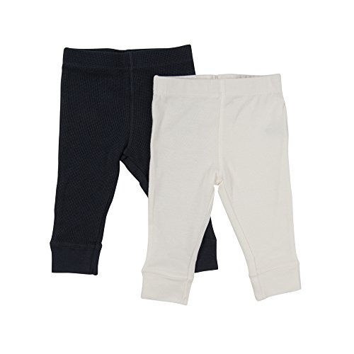 Leveret Baby Legging 2 Pack Navy & Off White 24 Months