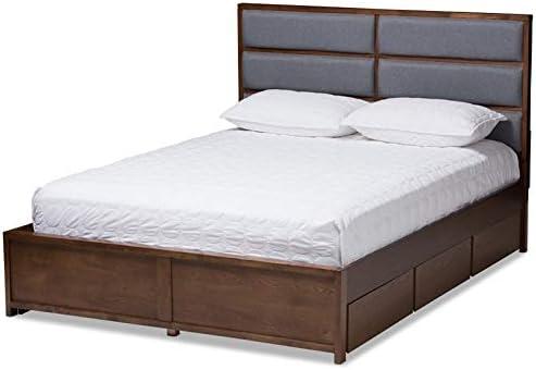 Baxton Studio Macey Queen Storage Platform Bed