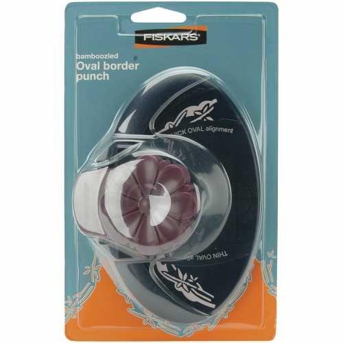 Fiskars 01-001420 Oval Border Punch, Bamboozled - Oval Border Punch