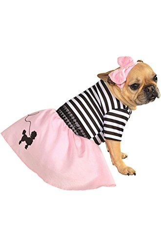 Rubie's Pet Costume, X-Large, 50s Girl Dress (50s Pink Poodle Girls Costume)