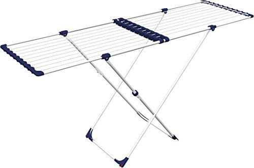 Gimi Stendissimo Ausziehbarer Boden-Wäscheständer aus Stahl, 20 m Trockenlänge