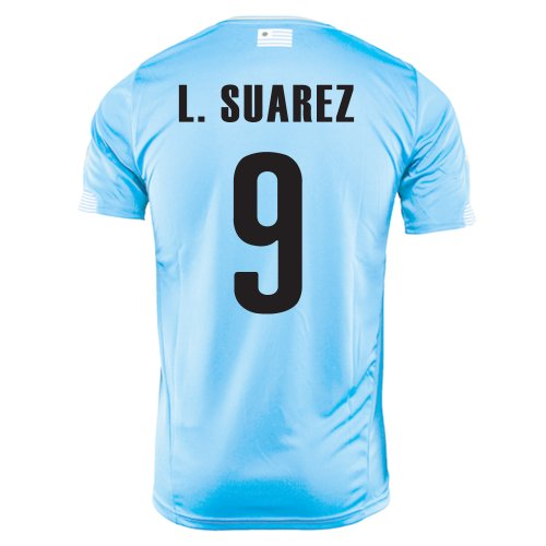PUMA L. SUAREZ #9 URUGUAY HOME JERSEY WORLD CUP 2014 (XL) (Cup World Uruguay)