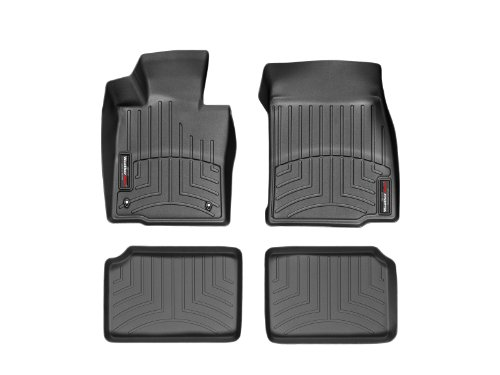 2011-2015 Mini Countryman-Weathertech Floor Liners-Full Set (Includes 1st and 2nd Row) Black