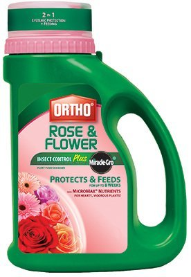Ortho Rose (Scotts Ortho Roundup 9900510 Bug-B-Gon Rose & Flower Insect Killer Plus Miracle-Gro Plant Food, 4-Lbs. - Quantity 6)
