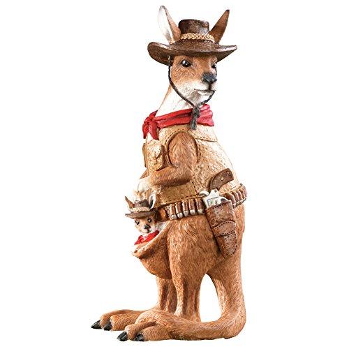 Animals Garden Statue (Kangaroo Bandit Garden Statue, Brown)