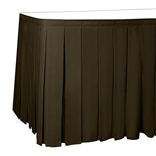 Polyester Box Pleat Table - Ultimate Textile 14 ft. Box Pleat Polyester Table Skirt - 42
