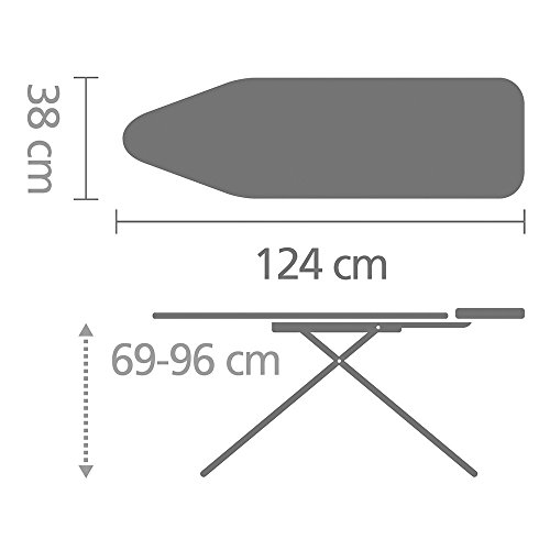 Brabantia Ironing Board with Solid Steam Iron Rest, Size B, Standard - Feathers Cover by Brabantia (Image #7)