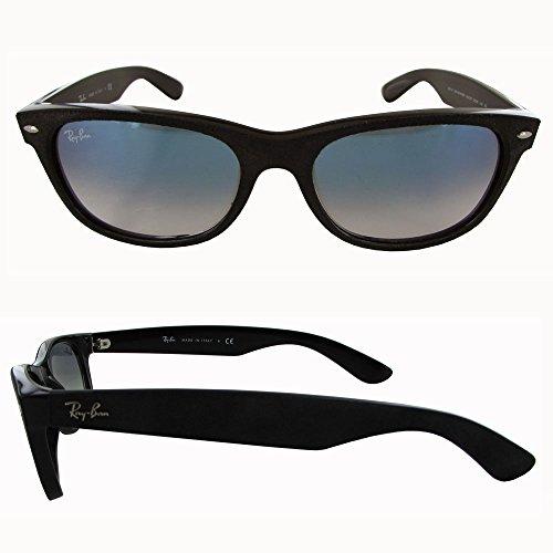 Ray-Ban Men's New Wayfarer Square Sunglasses, Black/Top Black Alcantar, 55 mm