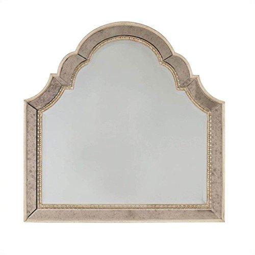 Landscape Beveled Dresser Mirror - Hooker Furniture Sanctuary Shaped Landscape Mirror in Pearl Essence