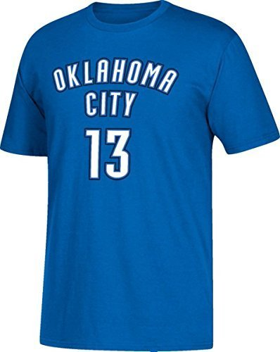 Paul George Oklahoma City Thunder #13 Blue Name and Number Youth T-Shirt (Large 14/16)