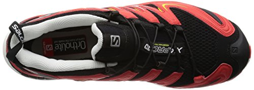 Salomon XA Pro 3D - Zapatillas de running Hombre Negro (Black / Radiant Red / Corona Yellow)