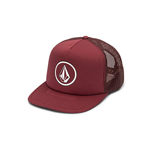 Volcom Men's Full Frontal Cheese 5 Panel Trucker Hat, Cabernet, One Size Fits ()