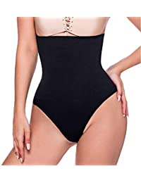 f40e2c06d0c Women Waist Trainer Tummy Slimming Shapewear Hi-Waist Sexy Thong Panties  Firm Control Briefs