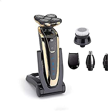 XIAOXIONG Afeitadora Eléctrica Recargable 4 Cortadores Flotantes Completo Impermeable Cuerpo Carga Rápida Afeitado Barba Máquina Negro Oscuro Negro: Amazon.es: Salud y cuidado personal