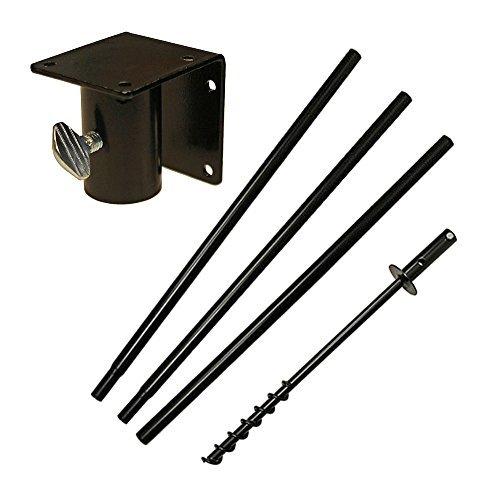 5 Piece Feeder Pole Set with Twist-in Ground Socket ()