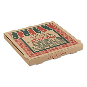 arv9164314 corrugado cajas de PIZZA, 16 W x 16d X 1 3/4H, Kraft: Amazon.es: Amazon.es