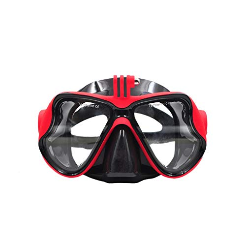 Owill Professional Underwater Camera Diving Mask Swimming Goggles for DJI Osmo Action, (Red)