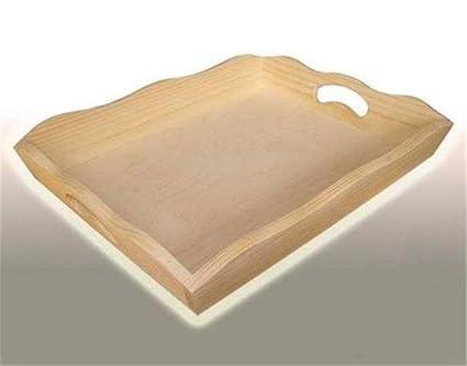 Vassoi In Legno Fai Da Te : Grande liscio legno tè o pasto vassoio 37 5 x 27 x 6 cm decoupage