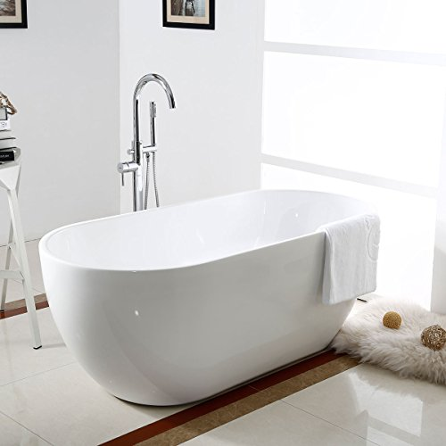 BHBL 60 In Seamless White Acrylic Freestanding Bathtub (C-AT-11572)