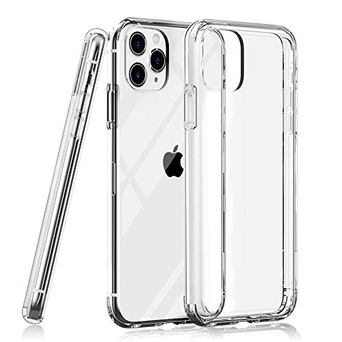 Lunatek Shockproof Slim iPhone 11 Pro Max Crystal Clear Case, Hard PC Back + Soft TPU Frame [Military Grade Drop Protection] Anti-Scratch Cover Cases Designed for Apple iPhone 11 Pro Max 6.5