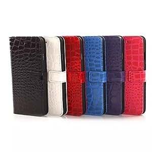 JJE Crocodile Grain Leather Case for iPhone 6(Assorted Colors) , Black