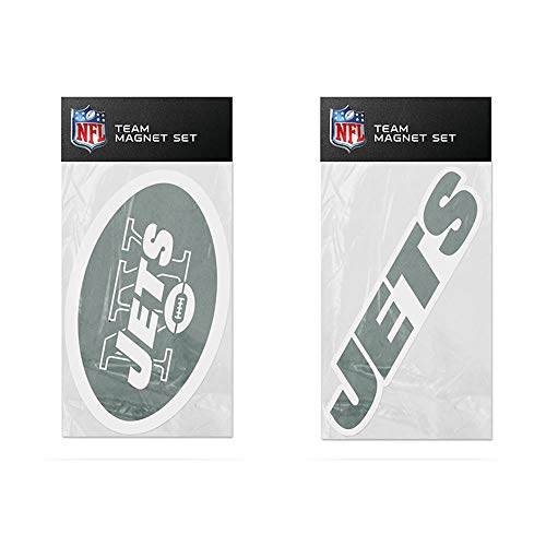Rico Industries NFL New York Jets 2-Pack Die Cut Team Logo Magnet Set