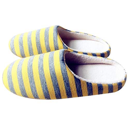 Donna Pantofole Amanti Misura da Antiscivolo a casa Stoffa Funnyrunstore Scarpe Caldo Inverno Righe Coppia per Peluche Giallo Pantofole Colore della da 37 Uomo 36 per Universale Giallo; Morbido Interno AxHIPw