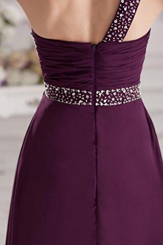 ein Lila Abendkleid GEORGE elegantes Chiffon lange BRIDE Lila Schulter OUTfqxB