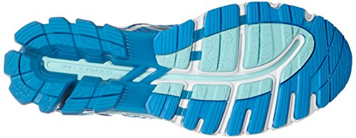 Kinsei Aqua Silver Splash Zapatillas Diva Deporte Mujer para de Gel Asics Blue Multicolor 6 57Taaq