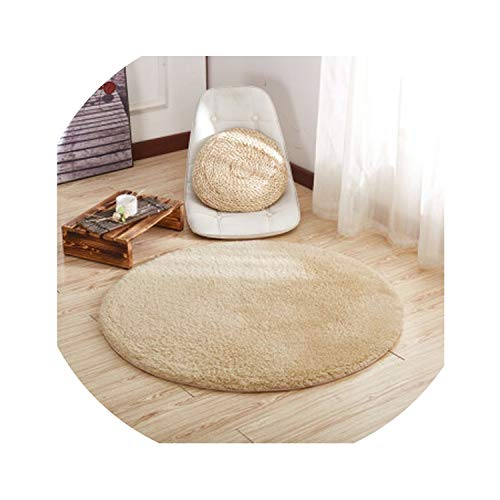 Round Thick Solid Color Lambskin Carpet Room Bedside Blanket Bedroom Living Room Coffee Table mat Non Slip Thickening Rug,4,Diameter 1.2m (Zebra 1 Plates Pier)