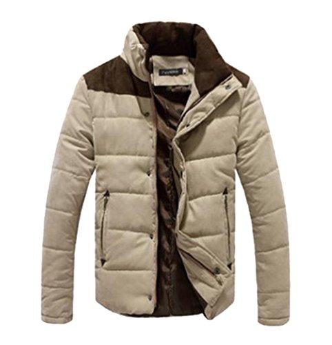 Kaki Manteaux Parka Homme Casual Courte Hiver Jacket Chaud Yilianda Longues Manches Blouson fwT4qng