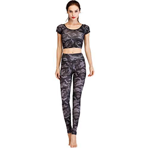 Gimnasia La Impresos Moda Deportivo Pantalones Traje El Rápido Para Baile Juegos Ombligo A Informal Expuesto Yoga Correr 2 Secado Hogar De Ropa Yoga FYY8Hwq
