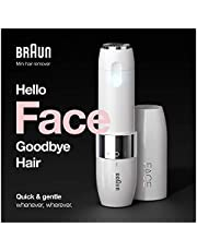Braun FS1000, Face Mini Hair Remover with Smart Light, White