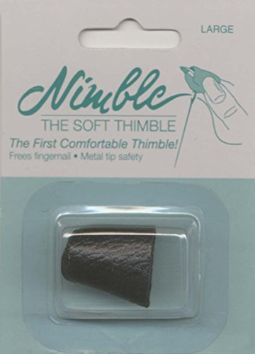 (Leather Nimble Thimble With Metal Tip-Large by The Nimble Thimble)