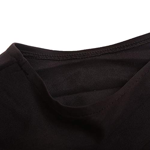 Shawhuwa Womens Sexy Asymmetric Ruffle Side Peplum Top Clubwear L Black