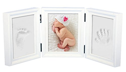 BabyIn Deluxe Casting Keepsake Kit for Baby Handprint or Footprint with Quality Wood Frame