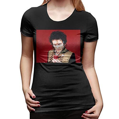 Chouven Womens Print with Adam and The Ants Crew Neck Short Sleeve Tee Shirt