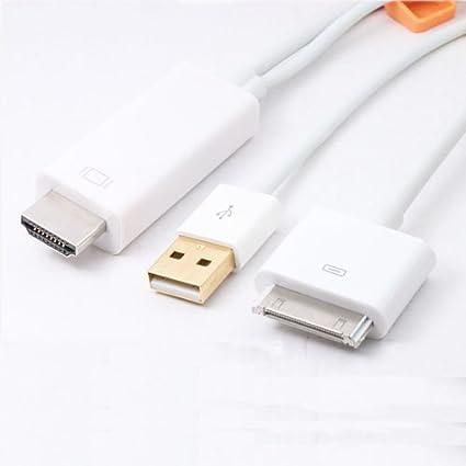 Patuoxun Adaptador 1.8 metros de Dock a HDMI Cable TV + Cable USB ...