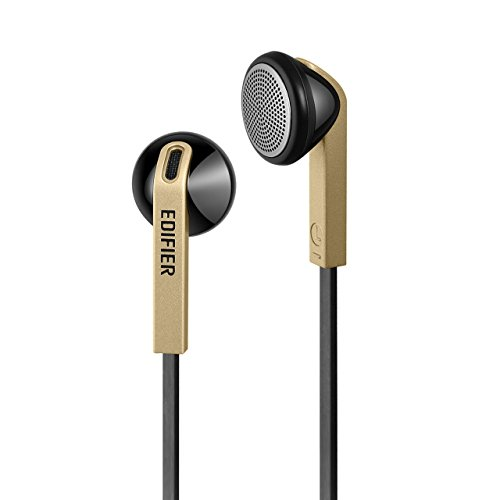 Edifier H190 Premium Earbuds - Classic Style Earbud Headphones - Golden Color Earphones Non-tangle Wire by Edifier