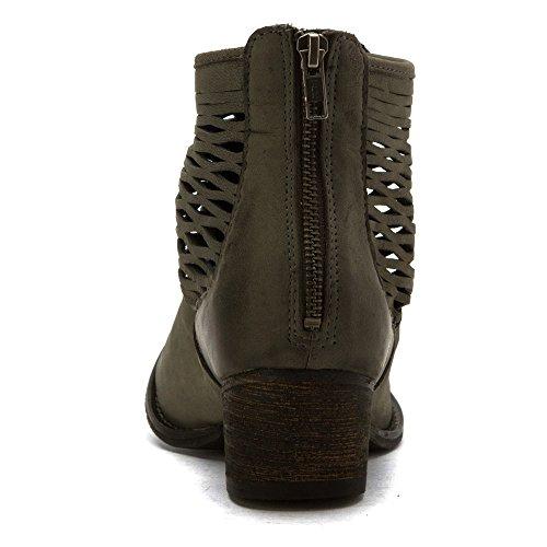 Joe's Footwear Jeans Grey Dark Leather Humbert Women's M 6 UwUrxq41F