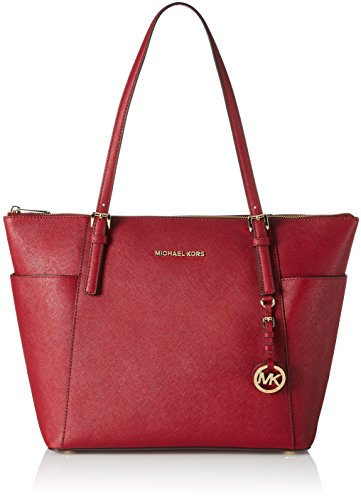 MICHAEL Michael Kors Jet Set Top-Zip Tote (Mulberry) by MICHAEL Michael Kors