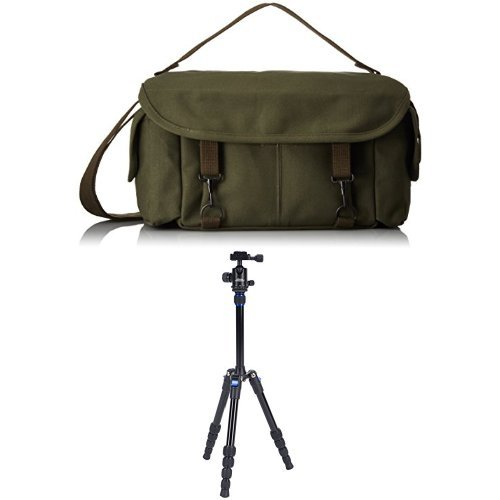 (Domke F-2 Original Bag (Olive) w/Davis & Sanford TR553-P228 Traverse Super Compact Tripod with Ball Head )