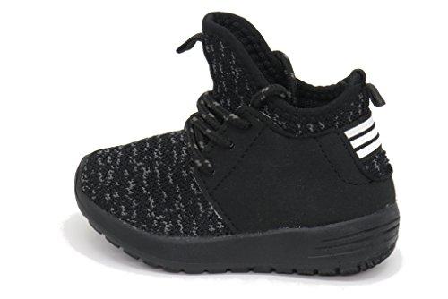 Blue Berry EASY21 Damen und Kinder Breathable Fashion Sneakers Casual Slip-on Loafers Sportschuhe Sportschuhe Schwarz / Schwarz-50