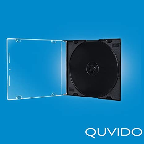 50 quvido CD slim cajas jewel case negro single 5.2 mm: Amazon.es ...